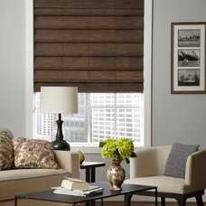 Contemporary Living Room by Lone Star Blinds