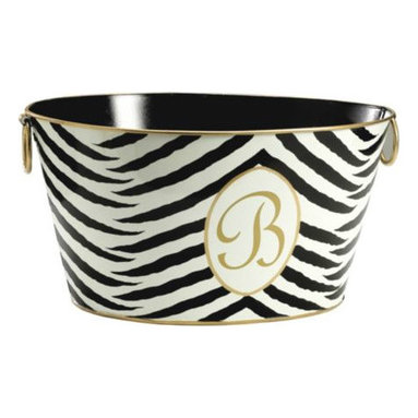 Monogrammed All-Purpose Tub - This fabulous tub can be used to store books, magazines and bottles of wine when hosting a glamorous cocktail soirée.