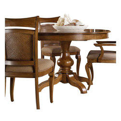 Hooker Furniture - Hooker Furniture Windward Pedestal Dining Table with Leaf Light Brown Cherry - Hooker Furniture - Dining Tables - 112576203 - Envision furniture with a relaxed and laid back feeling.