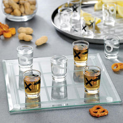 Game Night - Game Night Shot Glass Tic Tac Toe - Tic tac toe is all grown up in this shot glass version from Game Night. Challenge your guests to three in a row with this shot glass game and see who is left standing.