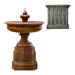 Campania International - Fontainbleu Fountain - Alpine Stone (AS) - 657 lbs. Shipping is available throughout the continental United States. As these fountains are made to order,_please allow 4 to 6 weeks for delivery. Drop ship is curbside delivery only.