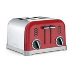 Cuisinart - Cuisinart CPT-180MR Metallic Red Classic Metal 4-Slice Toaster - This metal classic toaster from Cuisinart has a smooth brushed, stainless housing with polished chrome and black accents. The custom controls let you defrost and toast exactly how you want.