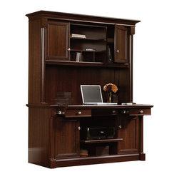 Sauder - Sauder Palladia Credenza and Hutch in Select Cherry - Sauder - Home Office Desks - 412079412308PKG -