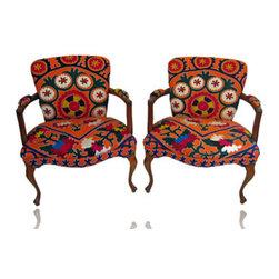 Orange Louis XV Chairs -