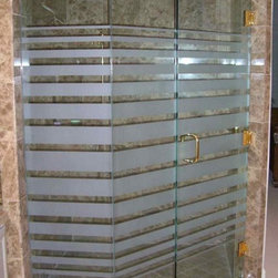 Expanding Bands Custom Glass Shower Enclosure - Expanding Bands Custom Glass Shower Enclosure