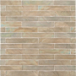 Glace Glass Tile - Ann Sacks Tile & Stone - I love the variation in this glass mosaic tile. It's like a modern interpretation of stained glass.