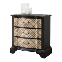 Silver Nest - Presentation Chest - Never out of style is the classic plaid chest, a personality-filled piece for any room. Three drawers. *Oversize item allow 4-6 weeks for delivery*
