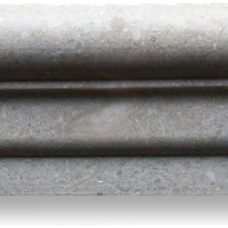 """Stone Center Online - Seagrass 2 1/2 x 12 Chair Rail Trim Molding Honed - Limestone from Turkey - Premium Grade Turkish Limestone Seagrass Honed 2 1/2x12"""" Chair Rail Wall & Floor Tiles are perfect for any interior/exterior projects such as kitchen backsplash, bathroom flooring, shower surround, window sill, dining room, hall, etc. Our large selection of coordinating products is available and includes hexagon, herringbone, basketweave mosaics, field, subway tiles, borders, baseboards, and more."""