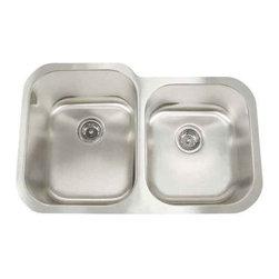Artisan Manufacturing - Artisan 18-Gauge 31 x 20 x 60/40 Sink - MH-3221D88 Artisan Manufacturing Manhattan Double Bowl Undermount 18 Gauge Kitchen Sink
