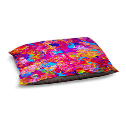 DiaNoche Designs - Dog Pet Bed Fleece - Fantasy Floral - The comfort of your pet is of the utmost importance. But shouldn't their furniture match yours? DiaNoche Designs gives your pet some clout with our stable of international artists designs on their new bed.