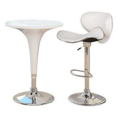 Sonax - Sonax CorLiving Height Bar Table in White Gloss - Sonax - Pub Tables - T411BAD - Create your own contemporary setting with the featuring an ABS Table top in White Gloss chromed gas lift and chromed support. This design will pair with any of our DAB ABS chairs to create a table setting with attitude! Accent your decor and adjust to the height of your choice with ease. A great addition to any home!