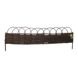 """Master Garden Products - Woven arch top willow raised bed kit, 48""""W x 96""""L x 10""""H - Bring some old world charm home to your garden. Willow is seen much around Europe and are commonly used in English gardens.  These magnificent pieces will inspire any gardener.  Liner installation is strongly recommended for this product. Our raised bed kits come complete with all willow panels, cedar wood stakes and wire tie necessary for you to set up your raised bed in minutes."""