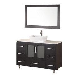 "Design Element - Design Element B48-VS Stanton 48"" Single Sink Vanity Set in Espresso - Design Element B48-VS Stanton 48"" Single Sink Vanity Set in Espresso"