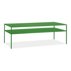 Slim Cocktail Table, Green - Who says industrial can't also have some color? I love the color options, the clean, industrial lines and the hard frame.