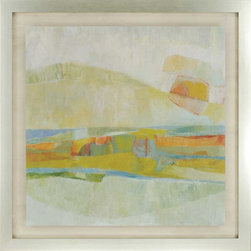 Paragon Decor - Rolling Hills Artwork - Mixed Media on Metal - Mounted on Board