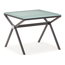 Zuo Modern - Zuo Modern Xert Modern Side Table X-602404 - The Xert side table shapes every space into a fresh and contemporary environment. The gray with frosted glass or white with painted glass adds sleek lines in any room.