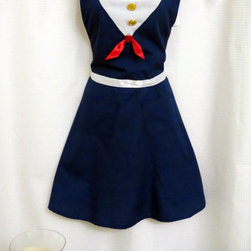Sailor Apron by Bebe Sucre Online - Just in case the captain needs a sous chef, it's good to always be prepared.
