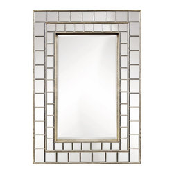 Bassett Mirror Company - Bassett Mirror Transitions Neo Rectangle Wall Mirror in Silver Leaf - Neo Rectangle Wall Mirror in Silver Leaf belongs to Transitions Collection by Bassett Mirror Company Bassett Mirror is fluent in this art, showing a terrific contemporary furniture that will satisfy on the one hand fans of home coziness, and on the other hand - seekers of non-standard design solutions also. One of the many strengths of the Bassett Mirror is using high quality materials for perfect embodiment of brilliant design ideas. Mirror (1)