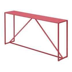 Blu Dot - Strut Console Table by Blu Dot - This simple red console is so chic.
