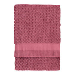 Nine Space - Dotty Bath Towel, Crushed Berry - At 680 grams per square meter, this bath sheet is luxuriantly soft and amazingly absorbent. It offers up plenty of visual texture with an irresistibly charming bubble pattern, giving your bath a look that's at once elegantly refined and subtly whimsical.
