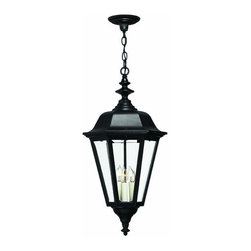 Hinkley - Hinkley Manor House Three Light Black Hanging Lantern - 1472BK - This Three Light Hanging Lantern is part of the Manor House Collection and has a Black Finish. It is Outdoor Capable, and Damp Rated.