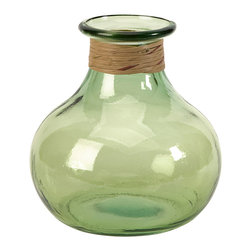iMax - Angelico Small Recycled Glass Vase - The small Angelico glass jug is made from recycled glass and is a beautiful Earth-friendly accent.