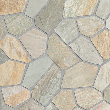Relastone Systems - Realstone Systems Sierra Algoma Mat - Algoma Flagstone mats feature an irregular flagstone pattern made from slate or quartz that is adhered to a rubber mesh mat.