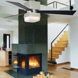 """Kubix 54"""" Ceiling Fan - Available in oil rubbed bronze and satin nickel finish"""