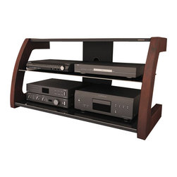 Sonax - Sonax Milan Glass TV Stand with Mount - Sonax - TV Stands - ML1459 - Customize your living space with this versatile 3 in 1 TV Stand / Bench from the Milan Collection by Sonax. Select the perfect style for your home. A wall mounted TV a back brace swivel mount or a classic stand to give your TV the special presentation it deserves. Featuring ample open face storage and a sleek cable management system to house all of your audio and visual components comfortably this piece is the perfect compliment to any space. Finished off with piano black tempered glass paired and real wood uprights this product is proudly North American.Features:
