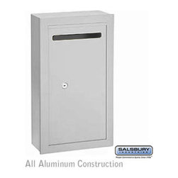 Salsbury Industries - Letter Box (Includes Commercial Lock) - Slim - Surface Mounted - Aluminum - Priv - Letter Box (Includes Commercial Lock) - Slim - Surface Mounted - Aluminum - Private Access