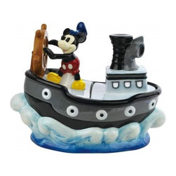 Westland - 8.25 Inch Mickey Mouse Steamboat Wille on The Sea Colorful Cookie Jar - This gorgeous 8.25 Inch Mickey Mouse Steamboat Wille on The Sea Colorful Cookie Jar has the finest details and highest quality you will find anywhere! 8.25 Inch Mickey Mouse Steamboat Wille on The Sea Colorful Cookie Jar is truly remarkable.