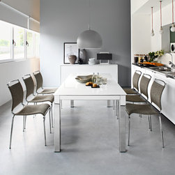 Calligaris Air Chair - Air is the perfect chair to complete all kitchens. The seat and backrest are made from Net mesh, a synthetic washable breathable material for maximum comfort. Stackable, lightweight and sturdy thanks to the metal frame, Air is available in a range of different finishes. Discover them all!