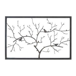 "BZBZ93746 - Metal Wall Decor in Deep Shaded Finish with Modern Design - Metal Wall Decor in Deep Shaded Finish with Modern Design. Endow your home with a more distinctive appearance with this metal wall decor which features a beautiful modern design. It comes with a following dimensions 40""W x 1""D x 26""H."