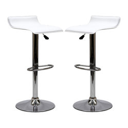 Two Gloria Bar Stools in White