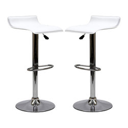 LexMod - Two Gloria Bar Stools in White - The Gloria Bar Stool is classy but simple, perfect for entertaining guests at your home bar or the kitchen counter. The Gloria Bar Stool features a low key design that brings true style.
