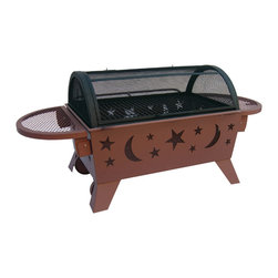 Landmann - Northern Lights XT Stars & Moon Georgia Clay Fire Pit - -Large rectangular Fireplace