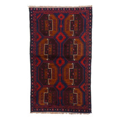 eSaleRugs - 3' 8 x 6' 1 Balouch Persian Rug - SKU: 22153432 - Hand Knotted Balouch rug. Made of 100% Wool. Brand New.