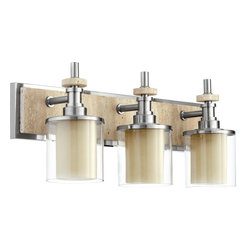 Quorum Lighting - Quorum Lighting 5064-3-65 Concord Transitional Bathroom / Vanity Light - CONCORD 3LT VANITY - STN