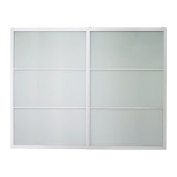 IKEA of Sweden - PAX LYNGDAL Pair of sliding doors - Pair of sliding doors, glass, aluminum