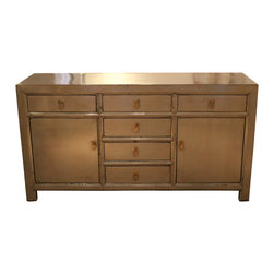 Mortise & Tenon - Grey Dresser - Asian inspired dresser with a modern grey color.