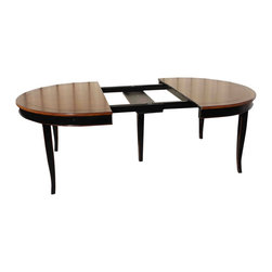 Oval French Country Extension Dining table - Hardwood construction