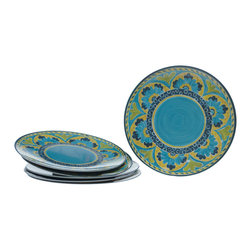 Certified International - Certified International Mexican Tile 11-inch Plates (Set of 6) - Certified International is a leading manufacturer of tableware. All items are attractive, functional and value priced allowing you to create a stylish tablesetting with coordinating kitchen accessories.