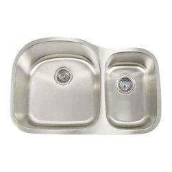 Artisan Manufacturing - Artisan 16-Gauge 31 1/8 x 20 1/2 60/40 Sink - AR3220-D97 Artisan Manufacturing Premium D-bowl Undermount 16 Gauge Kitchen Sink