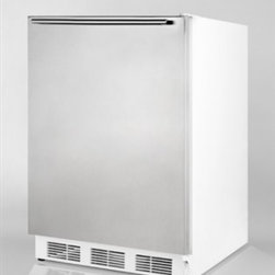 "Summit - CT66BISSHH 24"" Built-in Compact Refrigerator with Adjustable Wire Shelves  Door - Today SUMMIT carry over 600 models of specialty refrigerators and freezers including the largest range of fully automatic defrost compacts available on the market Additionally their product line consists of ranges microwave ovens cooktops combination..."