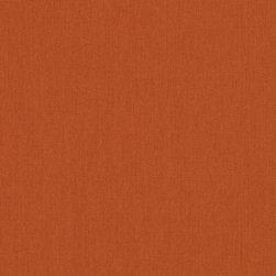 "Sunbrella USA - 54010 Sunbrella Rust Fabric - Sunbrella indoor/outdoor high performance fabric.  5 year warranty against fade, mildew and water resistance. 100% Solution-dyed Acrylic Yarns.  54"" wide. Solid.  Manufactured in the United States.  Machine wash - cold water. NO DRYER/HEAT."