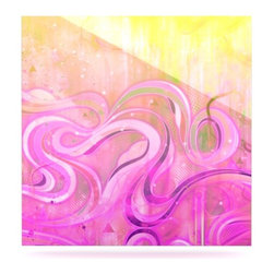 """Kess InHouse - Mat Miller """"Cascade"""" Metal Luxe Panel (8"""" x 8"""") - Our luxe KESS InHouse art panels are the perfect addition to your super fab living room, dining room, bedroom or bathroom. Heck, we have customers that have them in their sunrooms. These items are the art equivalent to flat screens. They offer a bright splash of color in a sleek and elegant way. They are available in square and rectangle sizes. Comes with a shadow mount for an even sleeker finish. By infusing the dyes of the artwork directly onto specially coated metal panels, the artwork is extremely durable and will showcase the exceptional detail. Use them together to make large art installations or showcase them individually. Our KESS InHouse Art Panels will jump off your walls. We can't wait to see what our interior design savvy clients will come up with next."""