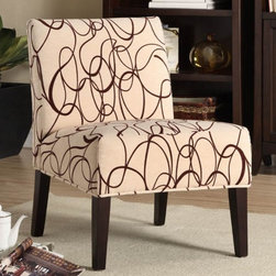 Homelegance - Lifestyle Armless Lounge Chair - Upholstered seat and back.