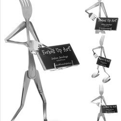Forked Up Art - Business Card Holder - Fork - The best way to become the most popular person in the office. Holds about 30 business cards.