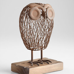 Cyan Design - Wisely Owl Sculpture - Wisely owl sculpture - rustic
