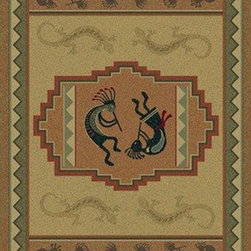 """United Weavers - Southwestern/Lodge Genesis Hallway Runner 1'11""""x7'4"""" runner natural Area Rug - The Genesis area rug Collection offers an affordable assortment of Southwestern/Lodge stylings. Genesis features a blend of natural natural color. Machine Made of Heatset Olefin the Genesis Collection is an intriguing compliment to any decor."""